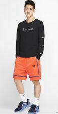 Mens Nike Sportswear Mesh Shorts Orange Size M Medium AR2418-891