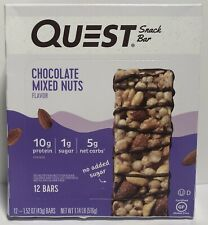Quest Nutrition Chocolate Mixed Nuts Snack Bar, High Protein 12 Count of 1.52 oz