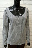 Maglione Grigio Donna TOMMY HILFIGER Taglia XL Felpa Pullover Cardigan Sweater