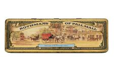 """Vintage English 1960s """"Rothmans of Pall Mall"""" litho cigarette tin in v good cond"""