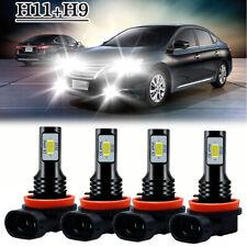 For Nissan Sentra 2013-2019-Combo H9 H11 White LED Headlight Bulbs High-Low Beam
