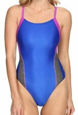 Speedo Relaunch Splice Flyback ProLT One Piece Swimsuit Radiant Blue Size 8/34