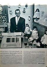 page de publicite - JOUETS POUPEE BELLA et BURROUGHS    en 1963    ref. 48767