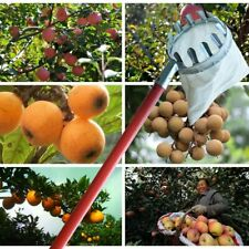 Metal Fruit Picker Garden Tree Picking Tool Long Distance Fruit Collector Picker