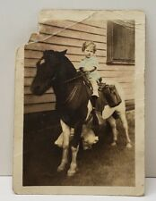 RPPC Young Boy on Pony Postcard B26