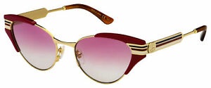Gucci Sunglasses GG0522S 004 Red Frame | Pink Gradient Lens