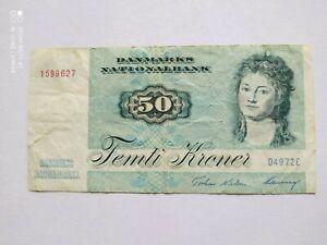Denmark 50 kroner 1972