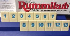 RUMMIKUB TIME RUMMY O Game Replacement Parts Set OF 13 Blue Tiles 1 2 3 4 5 6 7