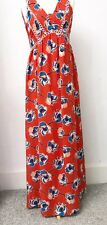 Ladies DOROTHY PERKINS Red Floral Maxidress 12. New With Tags. Summer Holiday