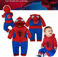 Baby Boy Spiderman Carnival Fancy Dress Party Costume Outfit Romper Clothes