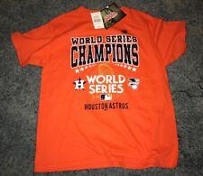 NWT Stitches MLB Boys Houston Astros 2017 World Series T-Shirt. Sz Medium