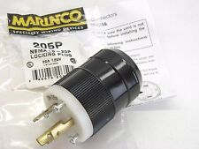 NEMA L5-20P New Marinco 205P Twist Locking Plug 125Vac 20A 2311, 6202, 70520