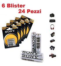 24 Ministilo Sony Batterie Pile AAA R03 Ultra 6 blister X 4 Mini stilo 1.5V 24PZ