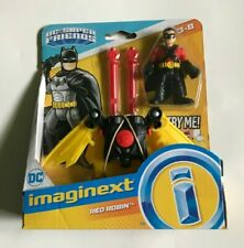 "NEW ~ IMAGINEXT ~ DC SUPER FRIENDS ~ ""RED ROBIN"" WITH INTERACTIVE DUAL LAUNCHER"