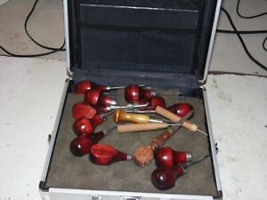 Lot of Carving Tools in Aluminum Case - Ramelson