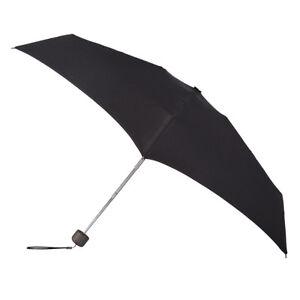 Totes Xtra Strong Manual Mini Folding Umbrella Black