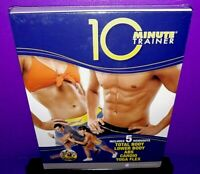 10-Minute Trainer 5 Workouts Total/Lower Body,Abs,Cardio,Yoga DVD Box Set NEW