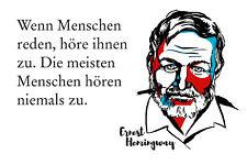 Ernest Hemingway Spruch 3 Blechschild Schild gewölbt Metal Tin Sign 20 x 30 cm