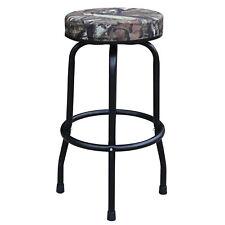 Torin Big Red 360 Degree Swivel Garage Shop Padded Bar Stool Seat, Mossy Oak