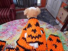 "GOLD SPARKLE ""JACK O'LANTERN"" HALLOWEEN Pumpkin Dog Sweater"