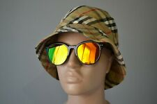 Burberry London Nova Check House Reversible Check Bucket Hat Great Condition