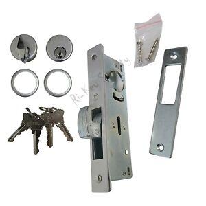 Storefront Door Mortise Lock Hook Deadbolt w/ 2 Cylinders Adams Rite Cam SC1-TT