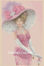 Elegant Lady Breast Cancer Dress Counted Cross Stitch  COMPLETE KIT#1-156g