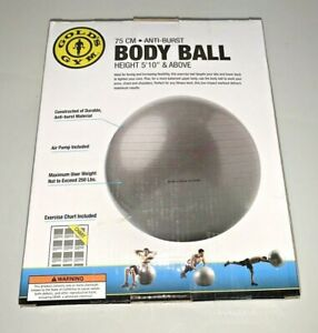 Golds Gym 75cm Anti-burst Exercise Body Ball New Sealed
