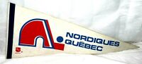 "Vintage Quebec Nordiques Pennant 12 x 30"" Full Size White Flag Wall Decoration"
