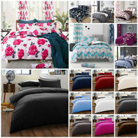 Duvet Quilt Cover Bedding Set + Pillow Cases Single Double King Super King Size