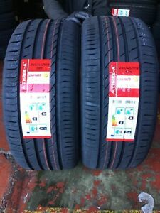 NEW 2 X 245 45 ZR19 98Y M+S THREE A ECOWINGED NEW TYRES AMAZING WET GRIP B NEW