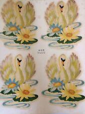 Vintage Swan Decals Pond Lily Pad American  Transfers