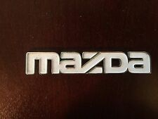 Mazda Front Grille White Mazda Emblem 817351771 Nameplate badge logo  5W