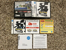 POKEMON WHITE VERSION CASE, ART COVER & MANUAL ONLY - NINTENDO DS , NO GAME