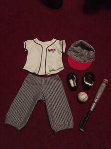 American Girl Doll Baseball Softball Sport Athletic Uniform Set