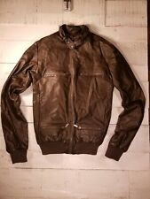 Blac Label Brown PU Leather Bomber Jacket, Young Men's SM