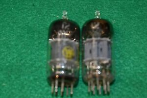 12AY7 GE Audio Receiver Guitar Amplifier Vacuum Tubes Tested Pair
