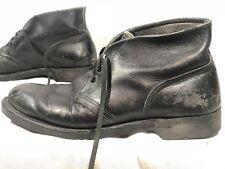 Vintage Endicott Johnson Ankle/Low Boots 9R Black Leather Shoes Hipster Patina