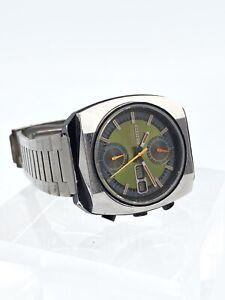 Vintage Chronograph Automatic Flyback Citizen Monaco 4-901061-K 8110A 08/1974