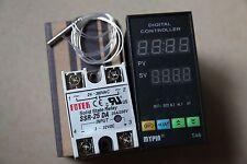 Digital F/C PID 48WX96HX80L Temperature Controller TA6-SNR + PT100+ 25A SSR