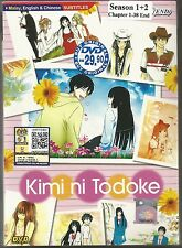 DVD Kimi Ni Todoke Season 1+2 Episode 1-38 end Anime Box set Free Shipping