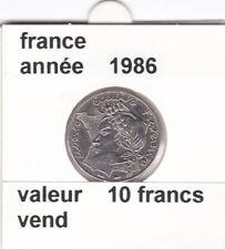 BF 1)pieces de 10 francs  france  1986 la bretagne touche le bore tu lise rare &