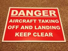 Danger, Aircraft taking off and landing sign.  For Airports.  (BL-38)