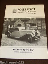 ROLLS ROYCE ENTHUSIASTS BULLETIN #138 - MAY 1983 SILENT SPORTS CAR