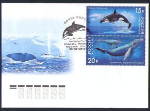 Russia 2012 Whales/Nature/Marine/Wildlife/Conservation/Environment 2v FDC n33909
