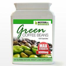 GREEN Coffee bean estratto max resistenza 6000mg perdita di peso Dieta Dimagrante pillole