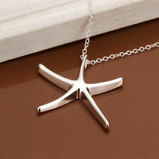 Korean Style Fashion Women's Silver Beautiful Starfish Pendant Necklace Jewelry