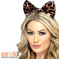 Sexy Leopard Bow Headband Animal Fancy Dress Ladies Costume Womens Accessory