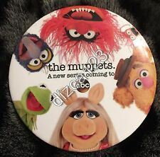 "Disney Button D23 Expo 2013 Muppets ""New Series Coming to ABC"" Group Button"