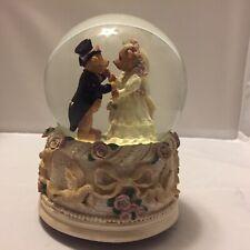 boyds bears Wedding snow globe